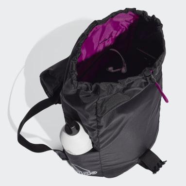 Kvinder Studio Sort Canvas Sport rygsæk