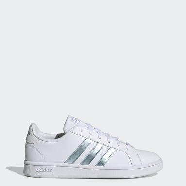 womens white tennis shoes   adidas US