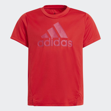 Girls Lifestyle Red adidas Designed To Move Tee