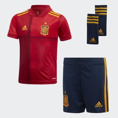 Miniconjunto primera equipación España Rojo Niño Fútbol
