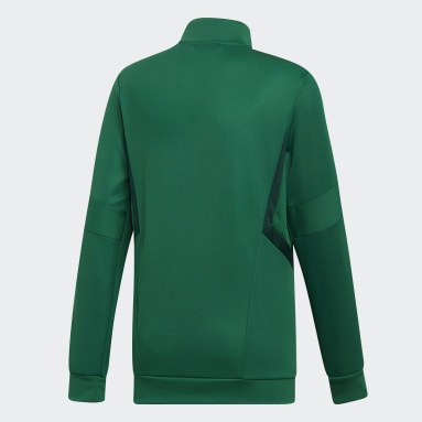 Børn Fitness Og Træning Grøn Tiro 19 træningsjakke
