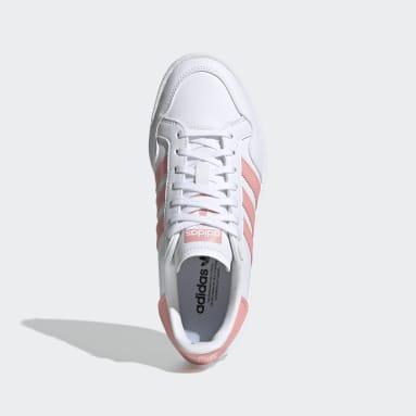 Girls Originals White Team Court Shoes