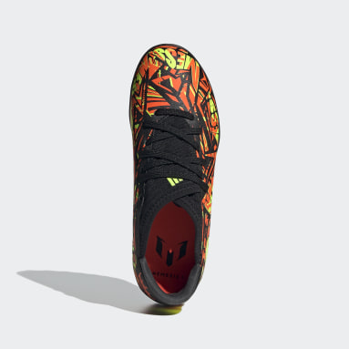 Kids Football Orange Nemeziz Messi.3 Turf Boots