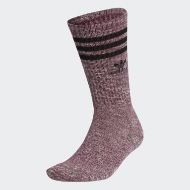 Men's Originals Red Slub Roller Crew Socks