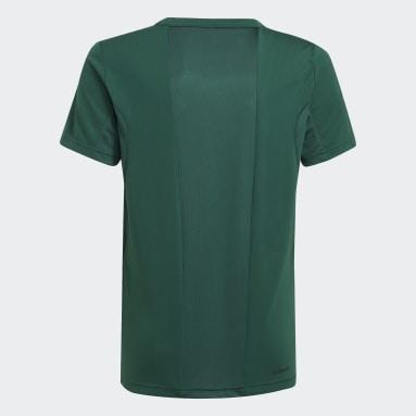 Camiseta Designed to Move Estampada Verde Niño Training