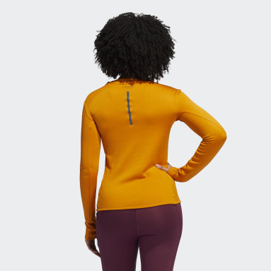 Women Running Orange COLD.RDY Long-Sleeve Top Training Long-Sleeve Top
