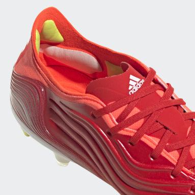 Bota de fútbol Copa Sense.1 césped natural húmedo Rojo Fútbol