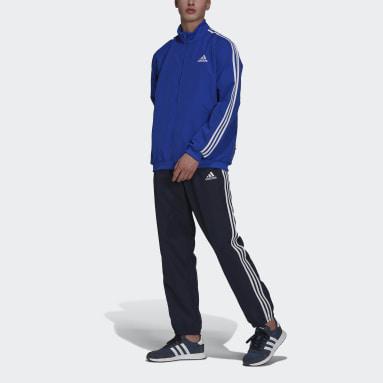 Men's Essentials Blue AEROREADY Essentials Regular-Fit 3-Stripes Track Suit