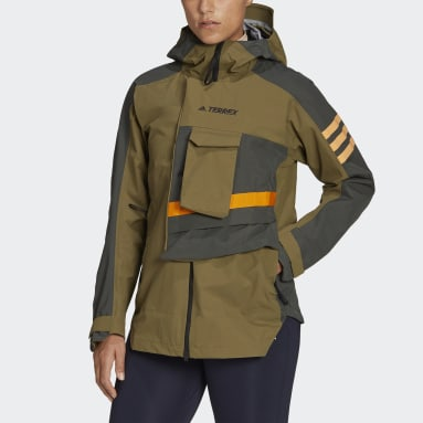 Chaqueta impermeable con capucha Terrex Xploric Verde Mujer TERREX