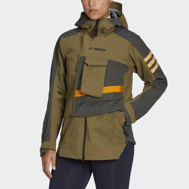 Women TERREX Green Terrex Xploric Rain Jacket