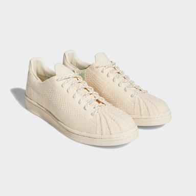 Originals Beige Pharrell Williams Superstar Primeknit Shoes