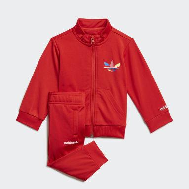 Infants Originals Red Adicolor Track Suit