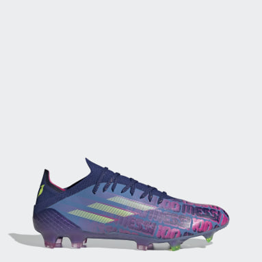 Chuteira X Speedflow.1 Messi Campo Azul Futebol