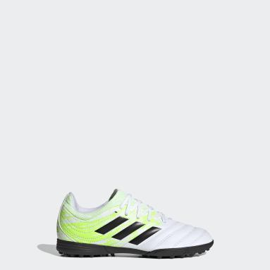 Girls Football White Copa 20.3 Turf Boots