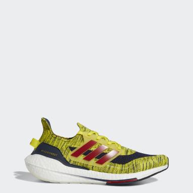 Running Yellow Ultraboost 21 Shoes