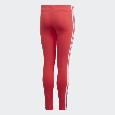 Meisjes Sportswear Roze Essentials 3-Stripes Legging