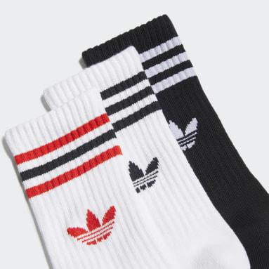 белый Три пары носков Crew