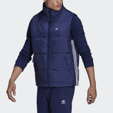 Giacca senza maniche Padded Stand-Up Collar Puffer Blu Uomo Originals
