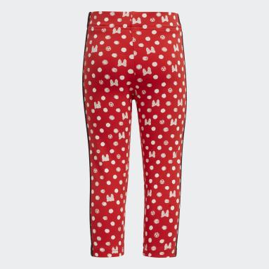 Çocuklar Lifestyle Kırmızı adidas x Disney Tayt