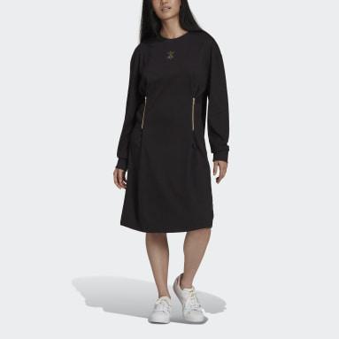 Langermet kjole Svart