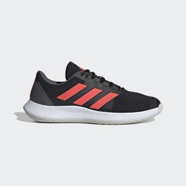 Table Tennis Black ForceBounce Handball Shoes
