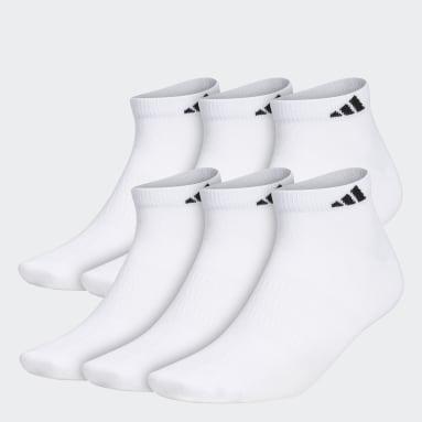 Men's Training White Superlite Low-Cut Socks 6 Pairs