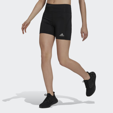 Women Running Black Own The Run Short Running Tights
