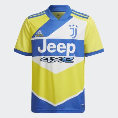 Camisa 3 Juventus 21/22 Amarelo Meninos Futebol