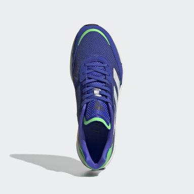 Men Running Blue Adizero Boston 10 Shoes