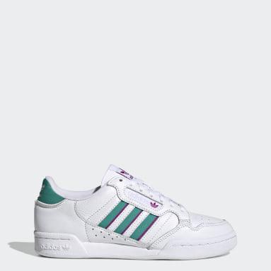 Women Originals White Continental 80 Stripes Shoes