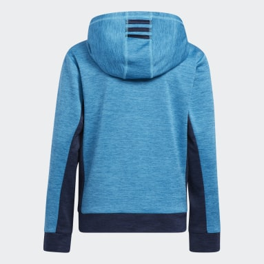 Youth Training Turquoise Colorblocked Mélange Hoodie