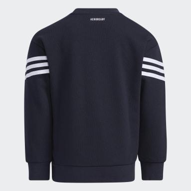 Barn Gym & Träning Blå Graphic Crewneck Sweatshirt