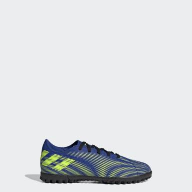 Boys Football Blue Nemeziz.4 Turf Boots