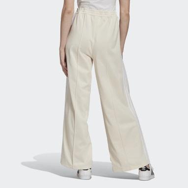 Pants Deportivos Adibreak Adicolor Blanco Mujer Originals