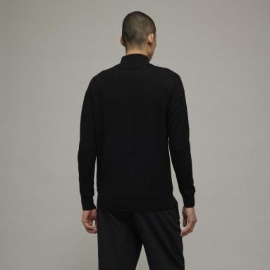 Men Y-3 Black Y-3 Classic Merino Blend Knit Half-Zip Sweater