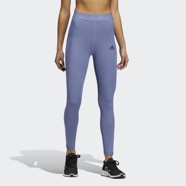 Tight lunghi Techfit 3-Stripes Gym Viola Donna Fitness & Training