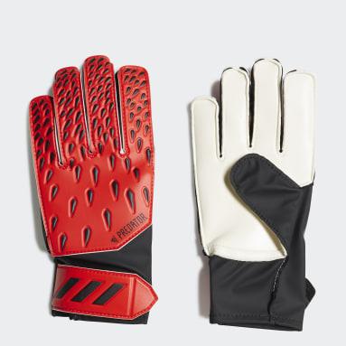 Barn Fotboll Röd Predator Training Goalkeeper Gloves