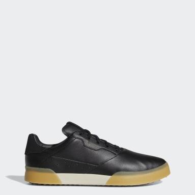 Men Golf Black Adicross Retro Golf Shoes