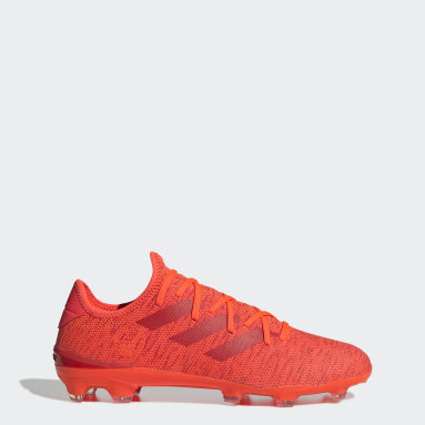 Football Orange Gamemode Knit Firm-Ground Boots