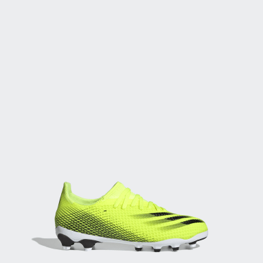 Children Soccer Yellow X Ghosted.3 Multi Ground Cleats