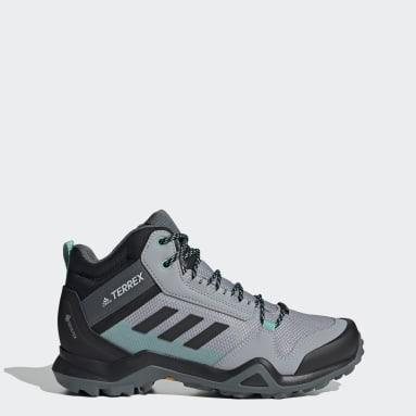 Zapatillas de Senderismo Terrex AX3 GORE-TEX Corte Medio Gris Mujer TERREX