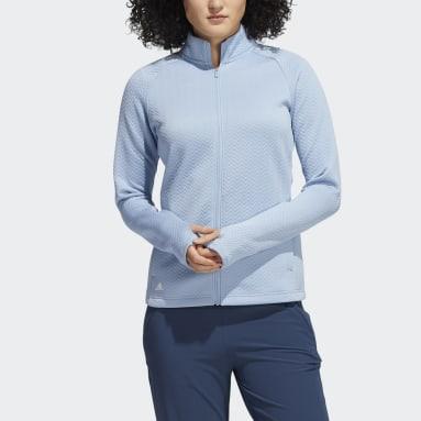 Dames Golf blauw Textured Layer Jack