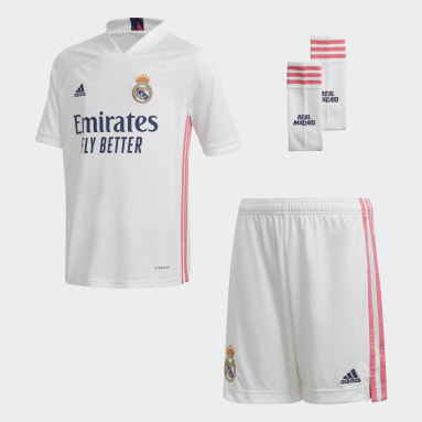 Divisa Youth Home 20/21 Real Madrid Bianco Bambini Calcio