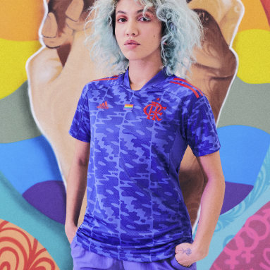 Camisa Pride Flamengo Feminina Roxo Mulher Futebol