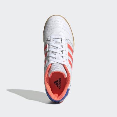 Zapatos de Fútbol Sala Super Blanco Niño Fútbol