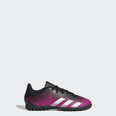 Girls Football Pink Predator Freak.4 Turf Boots