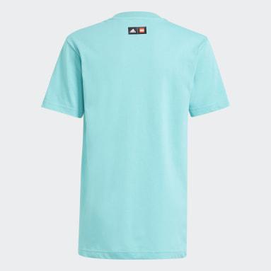 T-shirt adidas x LEGO® Graphic Turquoise Enfants Fitness Et Training
