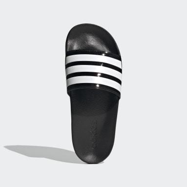 Women Swimming Black Adilette Shower Slides