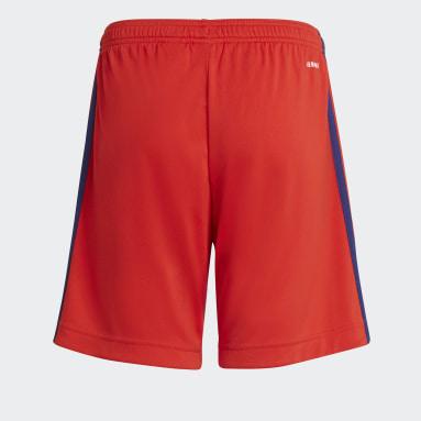 Pantalón corto segunda equipación Olympique de Lyon 21/22 Rojo Niño Fútbol
