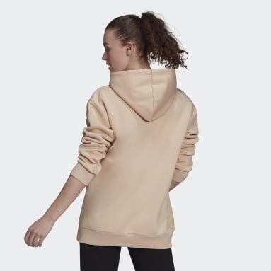Sudadera con capucha Essentials Oversize Fleece Rosa Mujer Sportswear